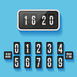 Wall flap counter clock vector template Royalty Free Stock Photography