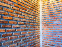 Wall. Flap cover made of brick Stock Photo