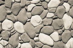 Wall with flat stone texture of beige color Stock Photo
