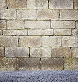 Wall and floor background Stock Images