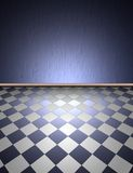 Wall and floor. Illustration of wall plaster and floor Royalty Free Stock Photography