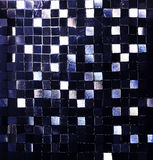 Wall and floor mosaic tiles in blue. Royalty Free Stock Photos
