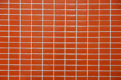 Wall and floor mosaic tiles orange color Stock Photo