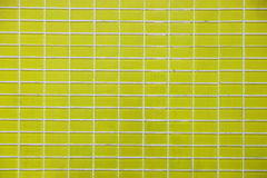 Wall and floor mosaic tiles yellow color Stock Photo