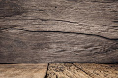 Wall and floor siding weathered grunge wood background Royalty Free Stock Photo
