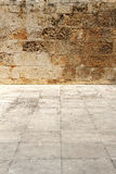 Wall and floor of stone, background Royalty Free Stock Images