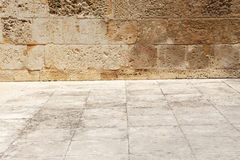 Wall and floor of stone, background Royalty Free Stock Photo