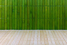 Wall and floor of a straw mat Royalty Free Stock Images