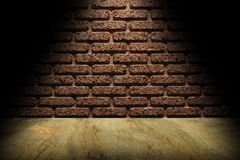 Wall and floor under the spotlight Royalty Free Stock Photos