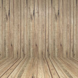 Wall and floor wood background Stock Images