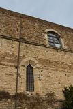 A wall of Florence Charterhouse church. Italy. stock images