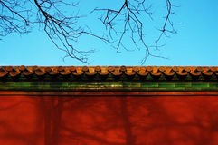 Wall OF Forbidden City. Wall of Chinese Old palace - Forbidden City Royalty Free Stock Images