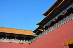 Wall of the Forbidden city Royalty Free Stock Images