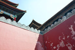Wall of the Forbidden city Stock Photography