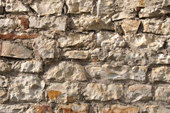 Wall form stones. Old wall form damaged stones Royalty Free Stock Photos