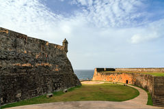 Wall fort Cristobal Royalty Free Stock Images
