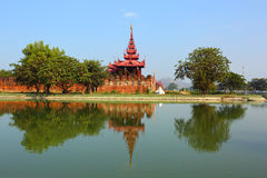 Wall of Fort and Hill in Mandalay Stock Image