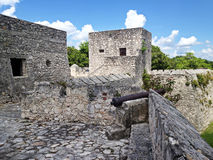 Wall of the fort of San Felipe in Bacalar Lagoon Stock Images