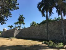 Wall of Fort San Pedro Stock Photography