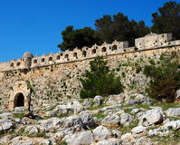 Wall At Fortezza Or Fort Of Rethymno Crete Greece Royalty Free Stock Images