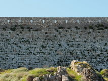 Wall At Fortezza Or Fort Of Rethymno Crete Greece Stock Photography