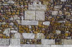 Wall. Fortification wall detail, Leon, Spain Stock Photos