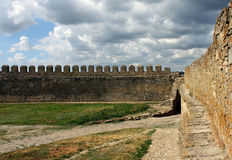 Wall of fortress Stock Image
