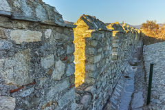 Wall of fortress of Kavala, Greece Royalty Free Stock Photography