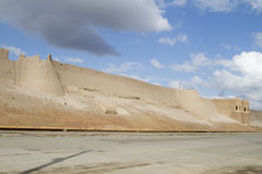 Wall of the fortress in the old city of Bukhara, Uzbekistan Royalty Free Stock Photos