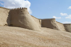 Wall of the fortress in the old city of Bukhara, Uzbekistan Stock Photography