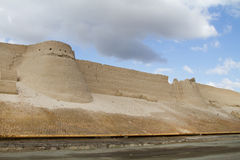 Wall of the fortress in the old city of Bukhara, Uzbekistan Stock Photo