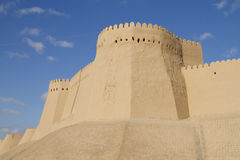 The wall of the fortress in the old city of Khiva Royalty Free Stock Images