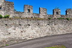 Wall of Fortress Royalty Free Stock Photo