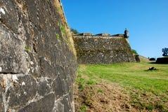 Wall. Fortrtess wall of Valença, Portugal Stock Images