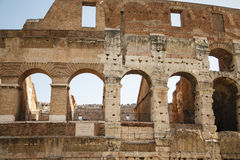 Wall of Forum with Latin Plaque Royalty Free Stock Photos