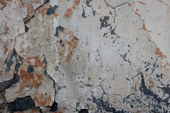 Wall fragment with attritions and cracks. Texture. Wall. A background with attritions and cracks stock photos