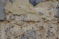 Wall fragment with attritions and cracks. Texture.  Wall. It can be used as a background Royalty Free Stock Images