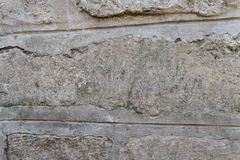 Wall fragment with attritions and cracks. Texture.  Wall. It can be used as a background Royalty Free Stock Photo