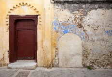 Wall fragment in old Medina, Tangier, Morocco Royalty Free Stock Photography