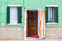 Wall fragment with two windows Royalty Free Stock Image