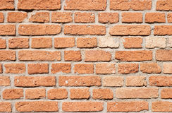 Wall frame. Wall of old bricks orange, without copyspace Royalty Free Stock Images