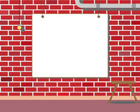 Wall with frame Royalty Free Stock Photography