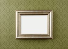 Wall frame on Wallpaper Royalty Free Stock Photography