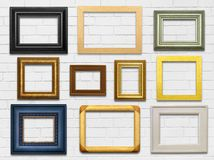Wall and Frames Stock Images