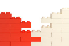 Wall From Color Plastic Blocks Royalty Free Stock Photo