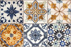 Free Wall From Colorful Ceramic Tiles. Stock Photography - 127100892