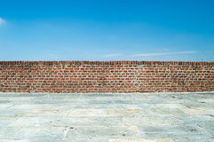 Wall in front of sky Royalty Free Stock Photos
