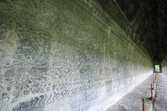 Wall full of bas reliefs Royalty Free Stock Photo