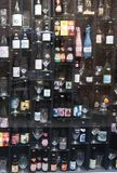 Wall full of beer bottles in Bruges Stock Images