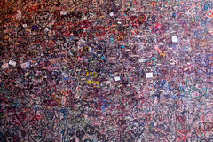 The wall full of messages in Juliet house, Verona Stock Photo